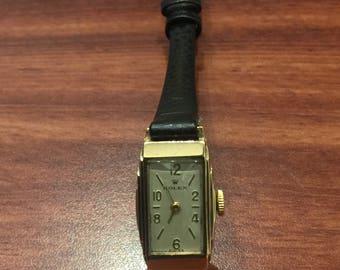 Rare & Fine Art-Deco 9K Gold ladies' Rolex watch. Manual Rolex movement, 15 jewels. Circa 1930's.