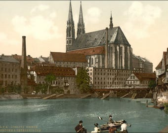 Poster, Many Sizes Available; Old Bridge And St. Peters Church, Gorlitz, Silesia, Germany 1890