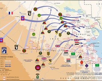 Poster, Many Sizes Available; Operation Desert Storm