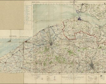 Poster, Many Sizes Available; Wwi Map Bruges Region, Belgium 1914 World War One