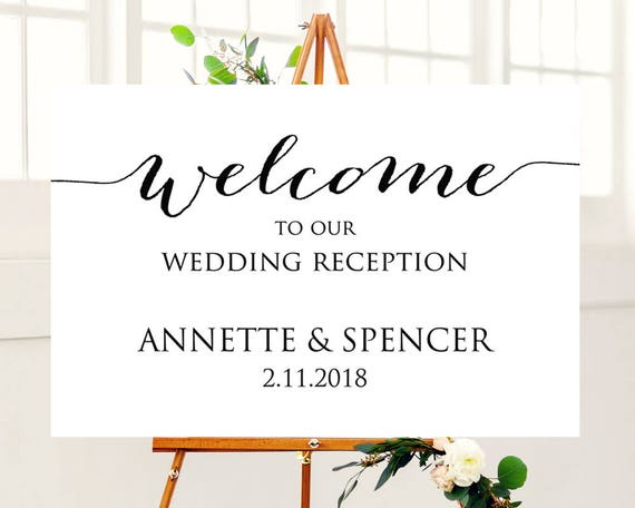 24x36 wedding reception welcome sign template. Black Bedroom Furniture Sets. Home Design Ideas