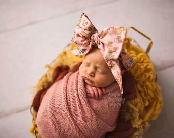 WILDFLOWERS Gorgeous Wrap- headwrap; fabric head wrap; floral head wrap; boho; newborn headband; baby headband; toddler headband