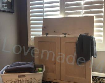 Laundry hamper, wood laundry hamper,unfinished, DIY (D-raw-fl-hamp)