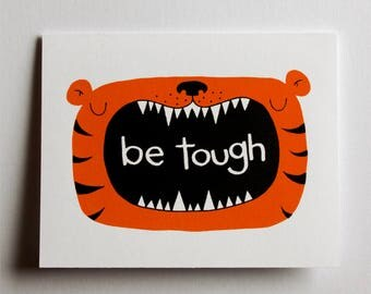 be tough greeting card