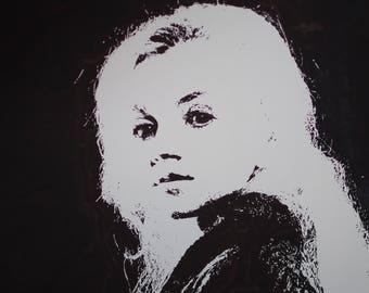 Luna Lovegood black and white portrait