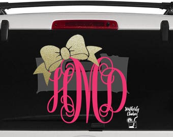 Bow Decal Etsy - Bow custom vinyl decals for car
