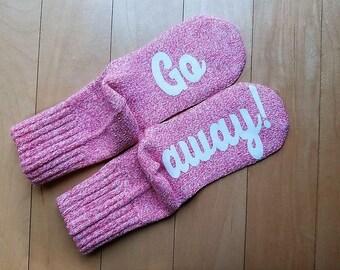Funny socks - Socks with sayings - Go Away socks - Wine Socks - Funny gift - Gag gift - Socks - comfy socks - If you can read this