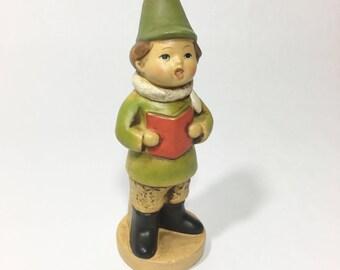 Christmas Caroling Boy Figurine Vintage Japan Christmas Decor