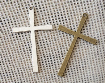 2 colors simple cross charm pendant,36*61mm Pendant, Antique Bronze Supplies,Antique Silver SuppliesDIY Supplies
