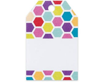 Bright HoneyComb Gift Wrap / Gift Bag  Tags -50pack