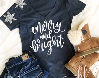 Merry And Bright SVG - Merry And Bright - Hand Lettered SVG