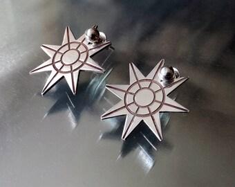 925 sterling silver star earrings |Star studs |Modern jewelry |Star ear pin |Unique earrings |Stars jewelry |Geometric minimal earrings