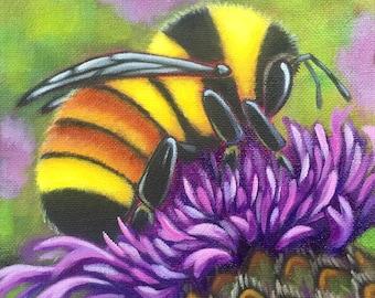 Bumble Bee Fine Art Print 8x8