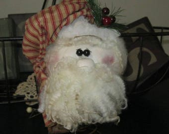 Santa Nodder, Vintage Santa Decoration, Santa on Rusty Spring, Santa Shelf Sitter, Christmas Decor, Holiday Decoration,Whimsical Sata