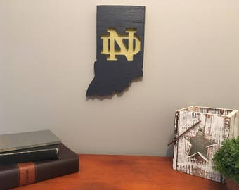 Notre Dame Wooden Sign, football