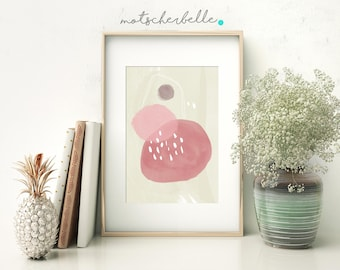 Watermelon - Fine Art Print, Abstract Painting, Digital Art, Print, Different Sizes Avariable! XXL Print! Summer Print, Rose, Pink