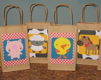 Farm / Barnyard Party Gift Bags - Set of 12