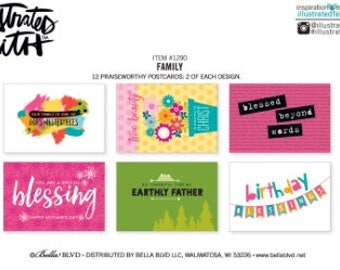 Family Blessing by Mail Postcards by Illustrated Faith