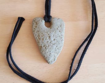 Amazing holey stone pendant/Necklace.  Natural. Rare. Beachcombed.