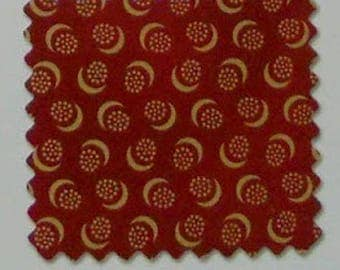P&B Textiles Flying Geese by Washington St. Studio 1880's Reproduction Red Half Moon Geometric -945R