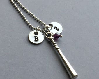 Baseball Bat Necklace-Baseball Necklace-Sports Necklace-Baseball Jewelry