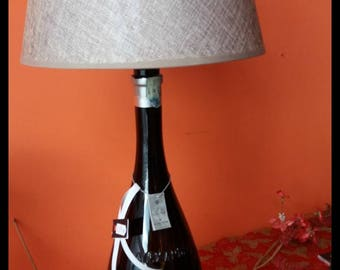Table lamp on bottle of Alexabder