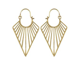 MA'AT  bohemian brass earrings