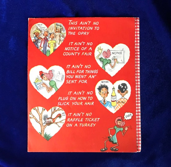 1940s american greetings valentine humorous 5 page card like this item m4hsunfo