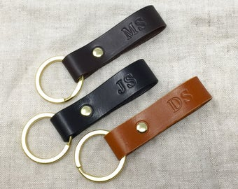 Personalised Leather Keyring, Personalised Leather Key Fob, Leather Keyring, Leather Key Fob, Personalized, Gifts For Him, Gifts For Her