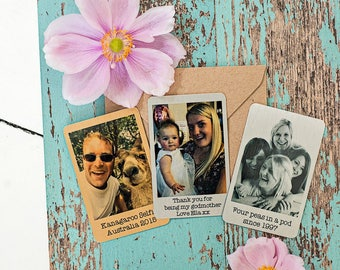 Aluminium wallet photo, perfect for wedding gift, father's day, best friend. Mother's day