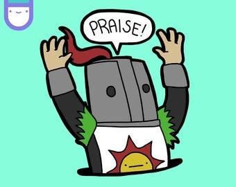 "Solaire ""Praise!"" Sticker"