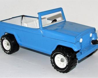 Tonka Jeepster Blue Pressed Steel Vintage Very Nice Blast From The Past