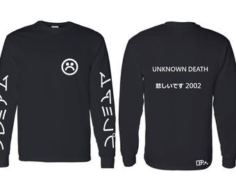Unknown Death Long Sleeve T Shirt (Back & Front)