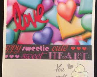 Handmade 3D Valentine's card