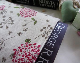 Book Sleeve - Book Cover - Book Protector - Bookworm Gift - Reusable Book Cover - Paperback Cover - Fabric Book Cover - Floral - Handmade