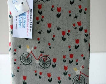 Fabric covered notebook, (lined paper)