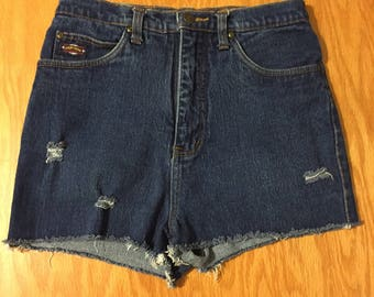 Vintage high waisted denim shorts, size 34
