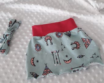Indian printed jersey skirt 2/3 years