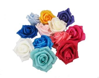 """3"""" Single Rose Foam Flowers (12)"""