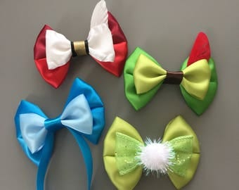 Mini inspired hairbow The Neverland