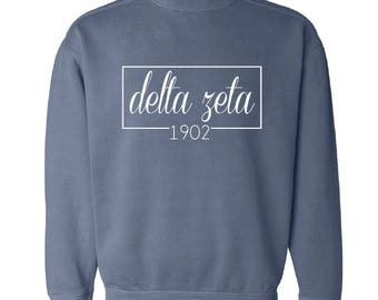 Delta Zeta // DZ // Sorority Comfrt Color Sweatshirt (Coneria) // Choose Your Color