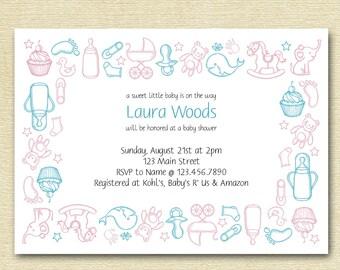 Baby Shower Invitation || Printable
