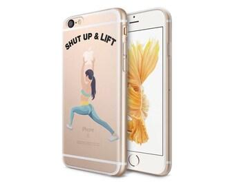 Squat Clear Phone Case - Transparent Case - Clear Case - iPhone 8 - iPhone 7 Plus - iPhone 7 - iPhone X - Shut Up & Lift - CaseLoco