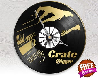 Record vinyl two layered black & color clock / / Digger's they vinyl Vinyl