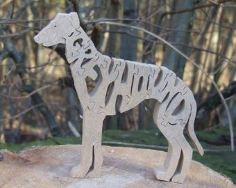 Greyhound, Greyhound jigsaw, Greyhound puzzle, wooden Greyhound,  Greyhound ornament,  gift for dog lovers,  gift for greyhound lovers