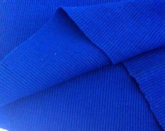 tubular jersey fabric Royal Blue ribbed
