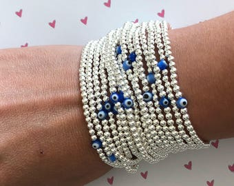 Gold Field Evil Eye bead bracelet