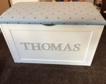 XL Toy Box, large personalised toy box, wooden toy box, XL toy chest,