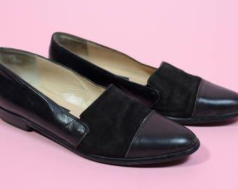 Vintage 90s Women's Classique Entier Suede Slip On Loafers Size 7.5 N