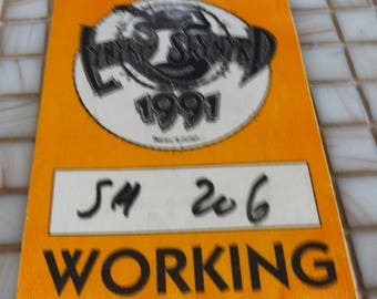 Lynyrd Skynyrd Concert Access Worker Pass. Authentic. Used by Worker. 1991.
